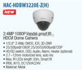 DAHUA Security System IP Camera CCTV 2 4MP Vandalproof IR HDCVI Dome Camera IP67 IK10 Outdoor