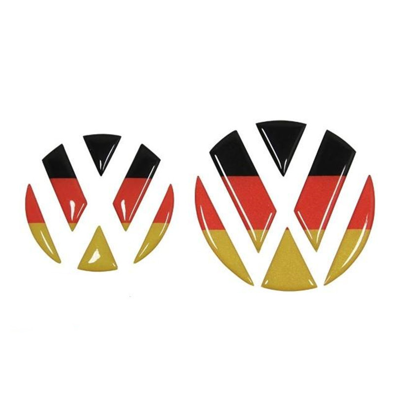 Car Styling Germany Flag VW Emblem Badge Sticker For Volkswagen Golf 6 7 Polo Beetle Touran Passat CC Front Rear Logo Decal(China (Mainland))