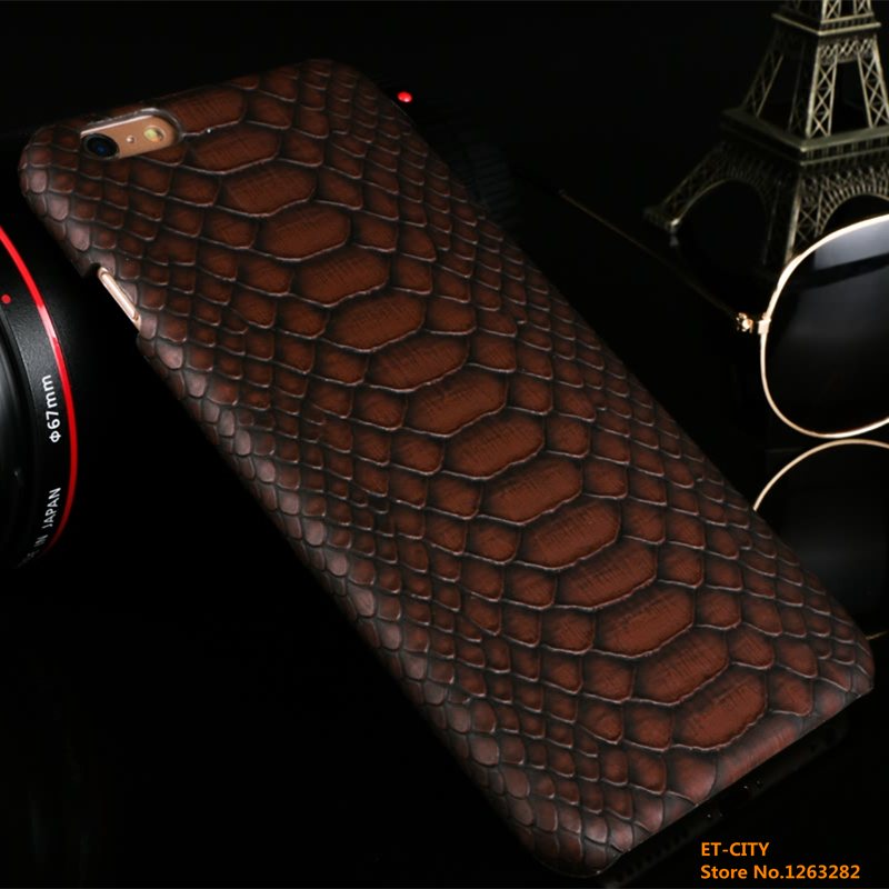 "For iPhone6/6s Plus 5.5"" High Quality Fashion Snake Skin Pattern Back Cover Leather Case Cell Phone Protection Case On Hot sale(China (Mainland))"