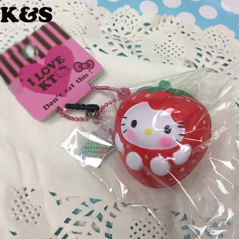 Rare Squishy Package : Aliexpress.com : Buy 5pcs/lot 2015 new original package rare red strawberry squishy hello kitty ...
