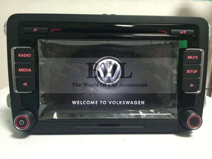VW Original Newest Car Radio Stereo RCD510 With Code For Golf 5 6 Jetta MK5 MK6 Passat B6 CC Tiguan Without RVC Input(China (Mainland))