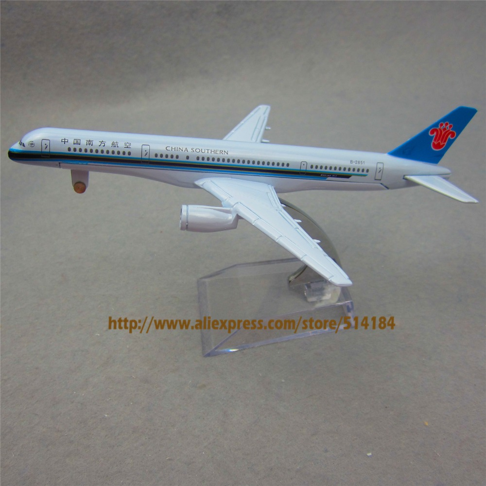 16cm Alloy Metal Air China Southern Airlines Airplane Model Boeing 757 B757 Airways Plane Model Toy Free Shipping(China (Mainland))