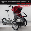3 Wheels 16 Mother Baby Strollers Folding Bike Carrier Bicycle Carrinho Aluminium Alloy High Grade 3
