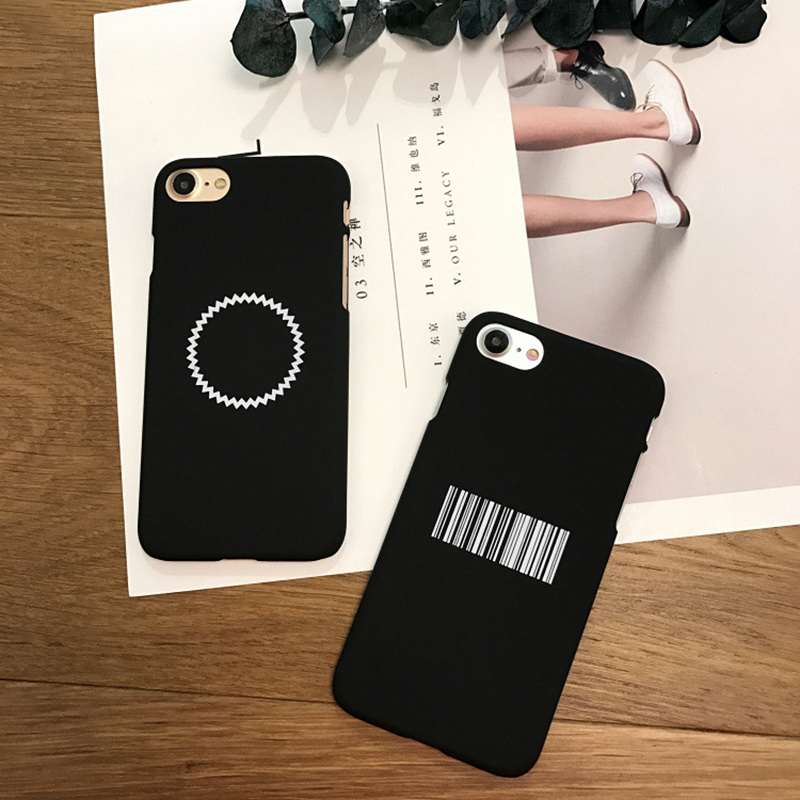 Fashion Funny Geometry Case For iphone 6 Case For iphone 6S 7 7 PLus 5 5S Phone Cases Cute Bar Code Saw Tooth Circle Cover Rated(China (Mainland))