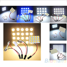 9 / 12 / 15 / 20 / 24 / 48 LED 5050 SMD Car Interior Reading Doom Light Panel T10 Festoon BA9S Adapter Replacement Parts 0272