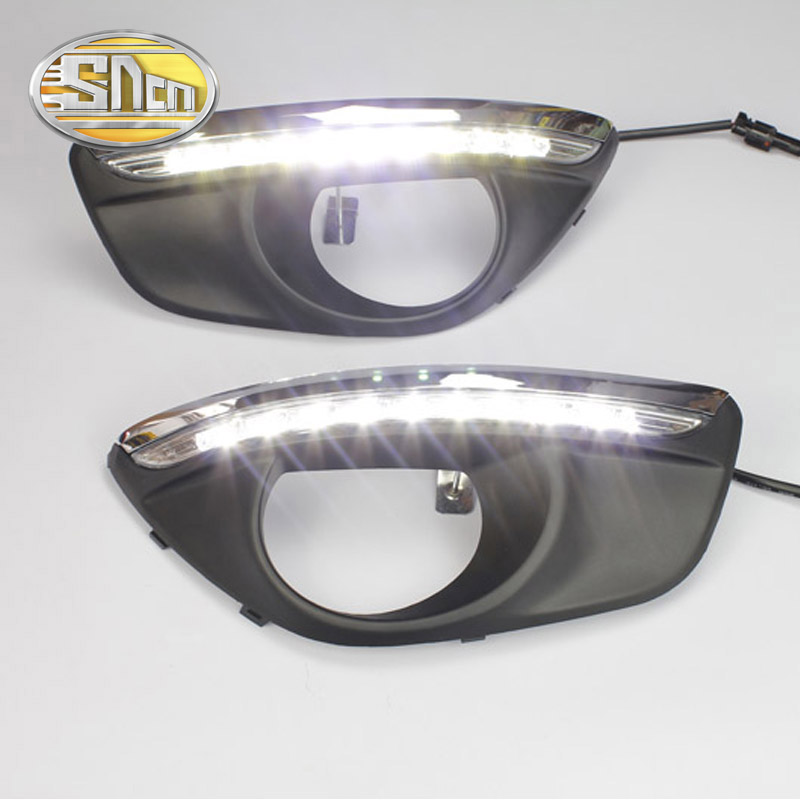 With Auto Dimming Function!!! LED Daytime Running light,LED DRL For Hyundai Santa Fe 2010 2011 2012,Free Shipping!<br><br>Aliexpress
