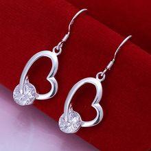 Buy 925 jewelry silver plated earrings fashion jewelry earrings beautiful earrings high Inlaid Heart Earrings ab gt for $1.14 in AliExpress store
