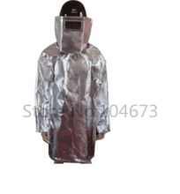 Thermal Radiation 500-600Degree Heat Resistant Aluminized Suit insulation coat fast shipping(China (Mainland))