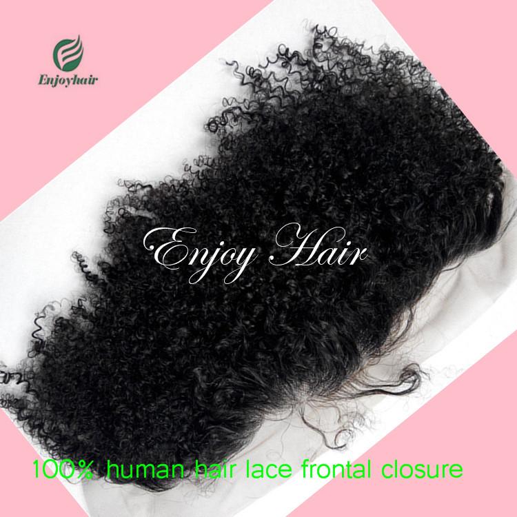 Здесь можно купить  Malaysian hair Afro curly silk base frontal natural color silk top frontal 13x4 front lace closure lace frontal  Волосы и аксессуары