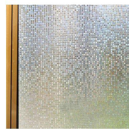 torneira de banheiro monocomando 0.45*3m Glue Electrostatic Laser 3D Bathroom Glass Sticker Film Window Stickers Sunscreen Paper(China (Mainland))