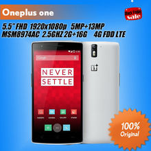 """Original oneplus one mobile phoneFDD LTE 4G 5.5"""" 1080P Snapdragon 801 2.5GHz RAM 16GB 64GB Android 4.4 NFC(China (Mainland))"""