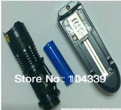 Free shipping Flashlight+14500 Battery 7W 500LM Mini CREE LED Flashlight Torch Adjustable Focus Zoom Light torch