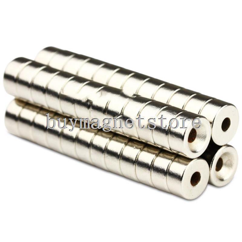 10*5 20PCS Super Strong Round Neodymium neodimio Ring Magnets 10mm x 5mm Hole: 3mm Rare Earth N35 Neodymium magnet<br><br>Aliexpress