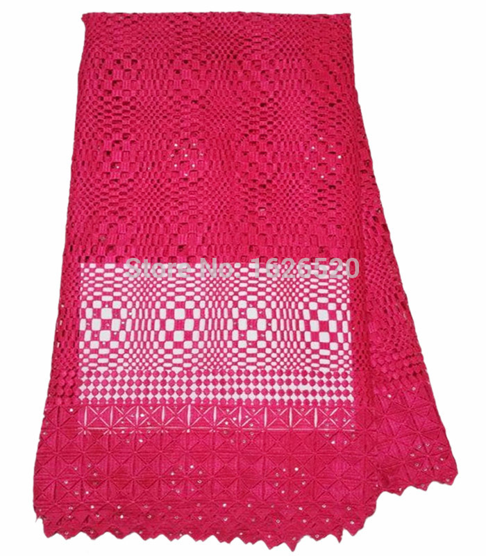 Здесь можно купить  Fast delivery geometry pattern with rhinestone design fushia water soluble lace,African guipure lace fabric for wedding dress Fast delivery geometry pattern with rhinestone design fushia water soluble lace,African guipure lace fabric for wedding dress Дом и Сад