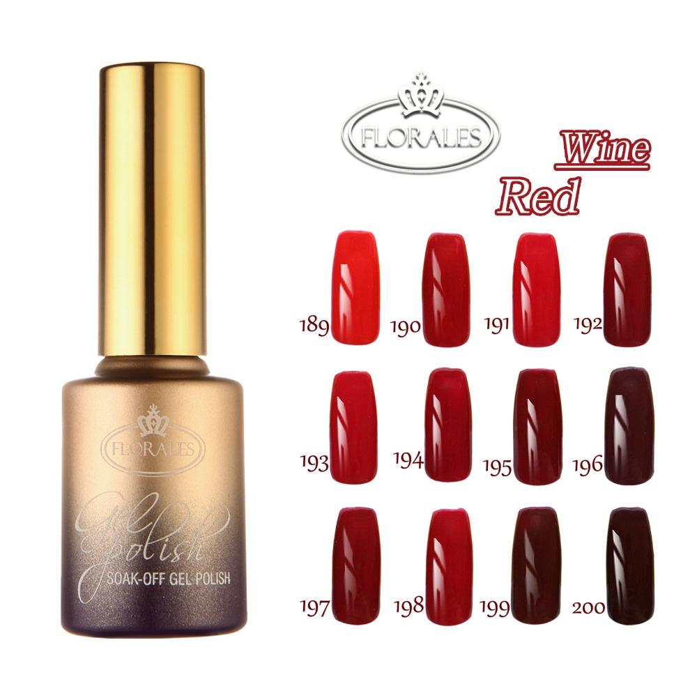 Free shipping! Red Wine Series! 12 pcs Florales Gel Nail Polish15ml 12 colors for choice.(China (Mainland))