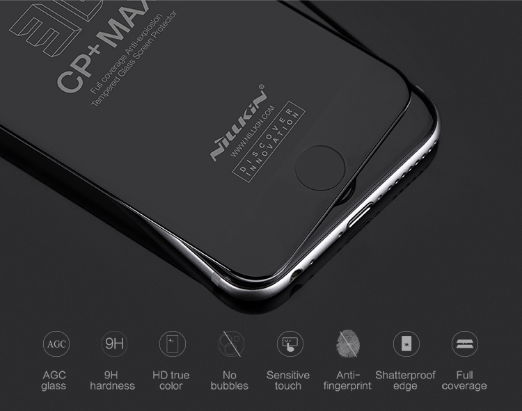 NILLKIN Amazing 3D CP+ MAX Full coverage Anti-explosion Tempered Glass Screen Protector For iphone 6 plus /6s plus Silicone Edge