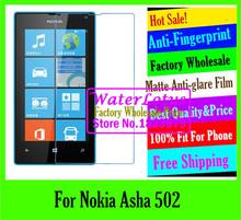 For Nokia Asha 502 LCD film case Wholesale Matte Anti-glare mobile protective film phone screen protector de pantalla projector