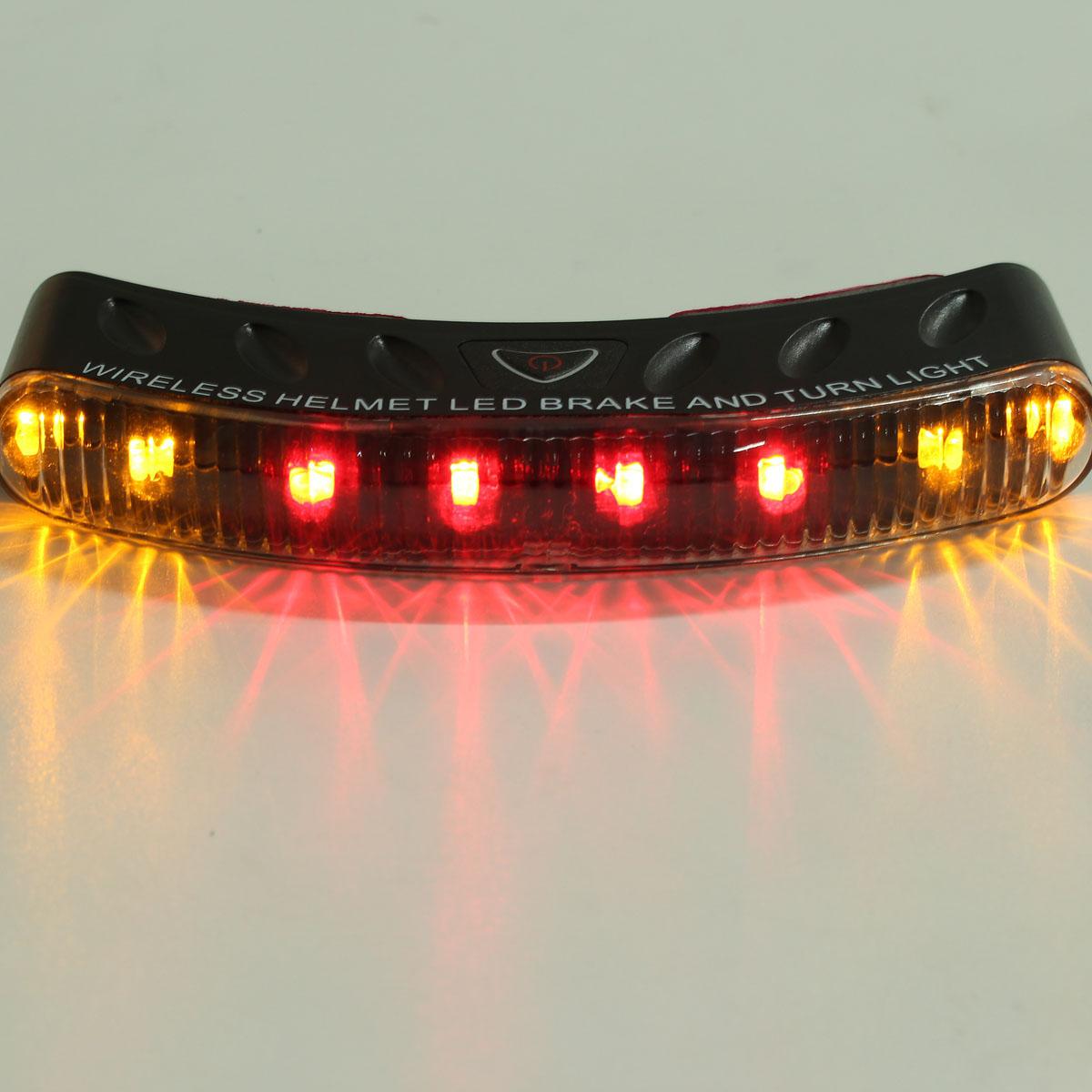12V Wireless 8 LED Motor Bike Motorcycle Turn Signal Brake Lamp Helmet Safety Light For Honda(China (Mainland))