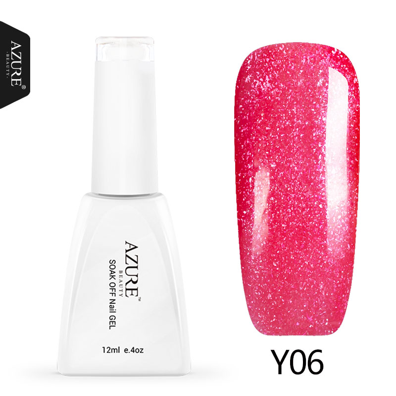 Azure Beauty Gel Polish Soak Off UV Nail Gel Polish Shiny Color Nude Film Gel Long Lasting For Nail Art Need Base&Top Coat Gel(China (Mainland))