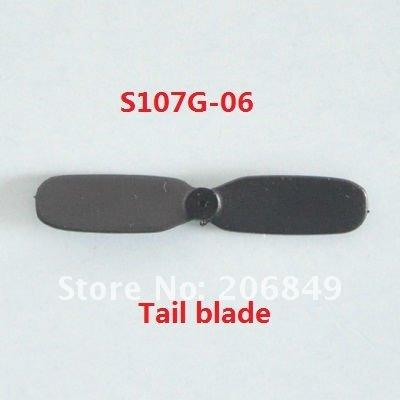 100pPCS Free shipping S107G-06 Tail Blade spare parts for 22cm S107G SYMA 3ch Gyro R/C Mini Helicopter RC plane S107(China (Mainland))