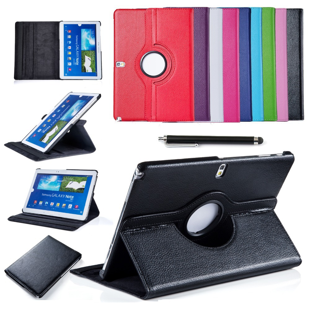 For Samsung Galaxy Tab 4 10.1 T530 T531 T535 Tablet PU Leather Smart Stand Case Cover 360 Rotating Screen Protector+Stylus Pen(China (Mainland))