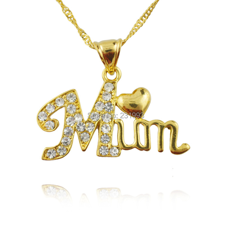 Ethiopian jewelry pendant best love mum letter pendant 18k for Jh jewelry guarantee 2 years