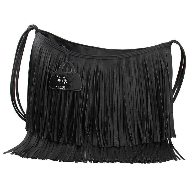 High Capacity Tassel Fringed Leather Bag Women Messenger Bag Shoulder Crossbody Bag Fashion Ladies Handbags Brand Bolsa Feminina(China (Mainland))