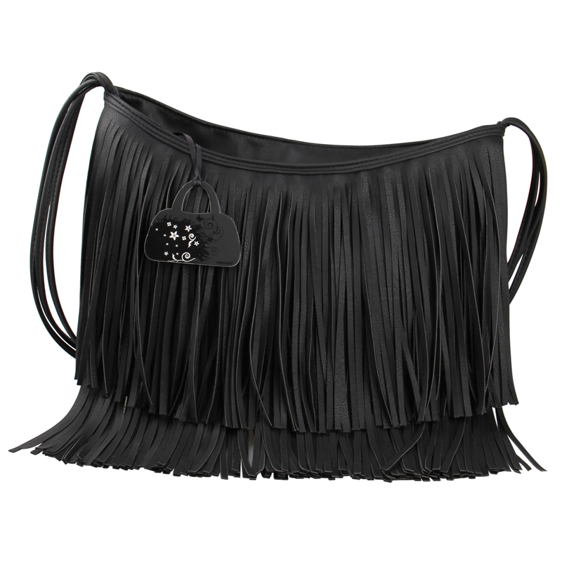 High Capacity Tassel Fringed Leather Bag Women Messenger Bag Shoulder Crossbody Bag Fashion Ladies Handbags Brand Bolsa Feminina(China (Mainland))