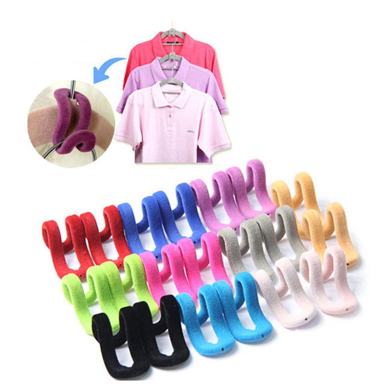 Hot Sale 10pcs Travel Flocking Multifunction Pile Coating Colors Magic Hook Hanging Mini Free Shipping(China (Mainland))