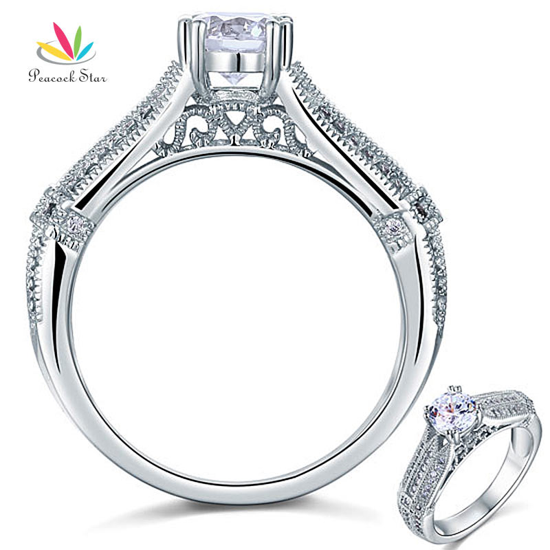 wholesale vintage style 1 ct created solid 925