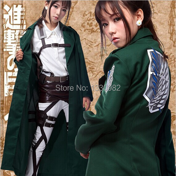 anime attack on titan cosplay Jacket Halloween costume for women new arrival long coat men adult for party