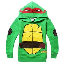 Teenage Mutant Ninja Turtles Kids Boys Tops Hoodie Overcoat Clothes Outfits 3-8Y(China (Mainland))