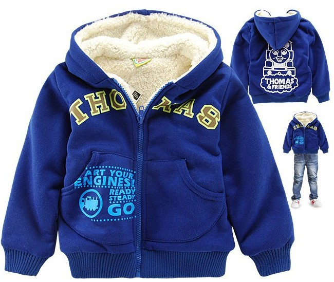 Freeshipping,top quality children outerwear cartoon boys hooded jacket winter brand kid's garment Wholesale and Retail CS023(China (Mainland))