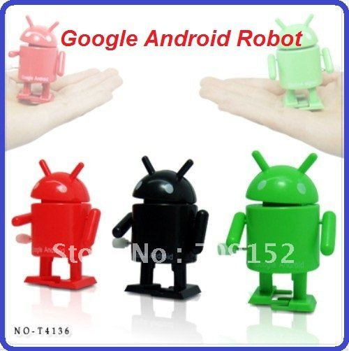 720cs/lot New Arrival Wind-up Walking Google Android Robot, Doll, Novelty toy, EMS Free Shipping(China (Mainland))
