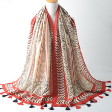 Buy Za 2016,bohemian,cotton hijab,stripe printing scarf,wraps shawls,muslim hijab,muffler,cape,shawls scarves,scarf geometric for $45.12 in AliExpress store