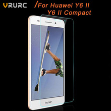 Vrurc Premium Tempered Glass For Huawei Y6 II /Y6 II Compact Screen Protector 9H 2.5D Toughened Protective Film Guard For Y6 II(China (Mainland))