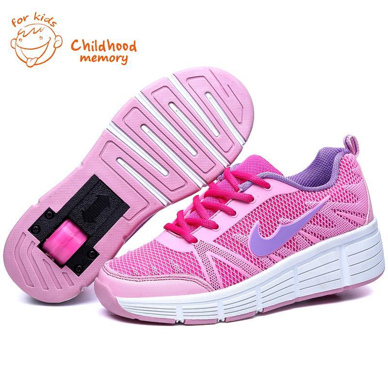 Heelys Kids Wheelie Sport Shoes Boy&amp;Girl Roller Skates Children Fashion Sneakers Single Wheel Mesh Zapatillas Ruedas<br><br>Aliexpress