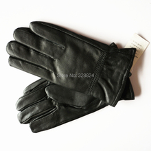 Sheep skin leather gloves for men plus velvet warm autumn and winter driving thick gloves