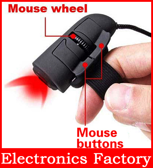 Plug-and-Play Mini USB 2.0 3D Optical Finger Wired HandHeld Mouse Mice For Laptop PC Computer Notebook(China (Mainland))