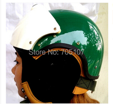 2014 MASEI Best ABS Green AIR JET Helmet Pilots Flying Helmets Motorcycle Half Electric Bicycle Open Face Pilot - Excom Technology CO.,Limited store