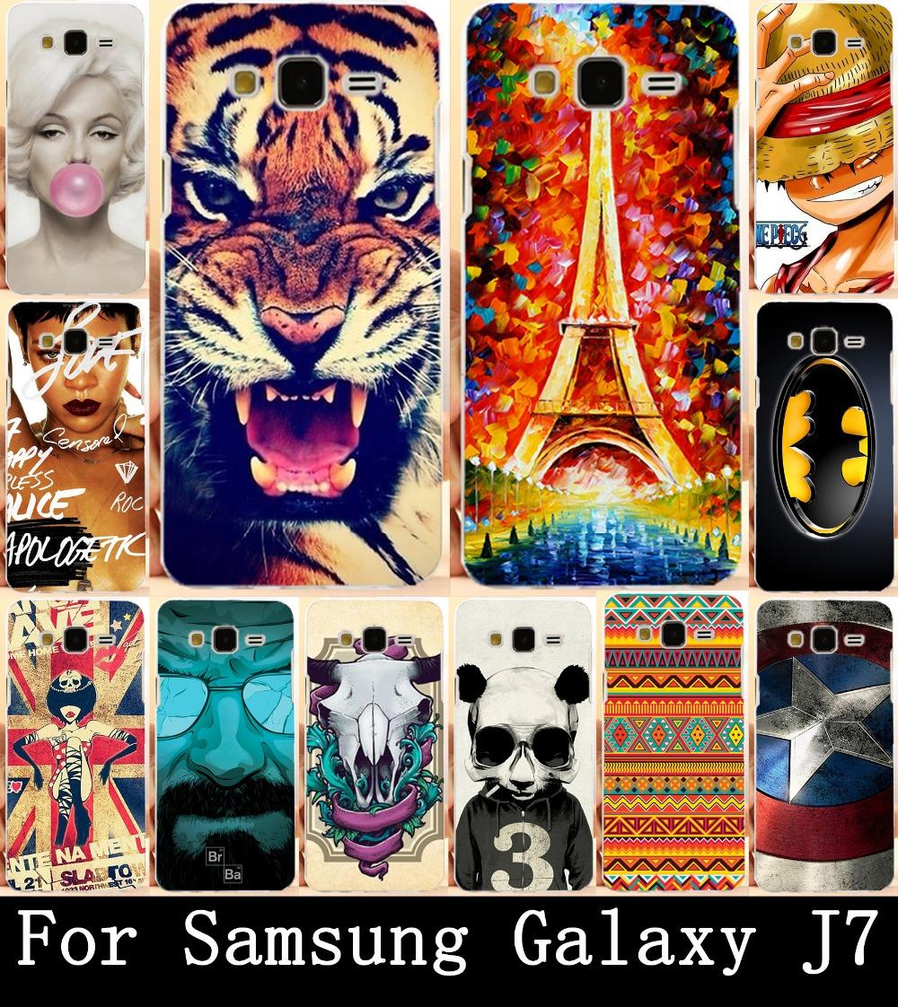 Гаджет  22 Patterns Colorful Painted Cartoon Hard PC Case Protector Cover For Samsung Galaxy J7 J700F J700 Phone Cases Cover Skin Shell None Телефоны и Телекоммуникации
