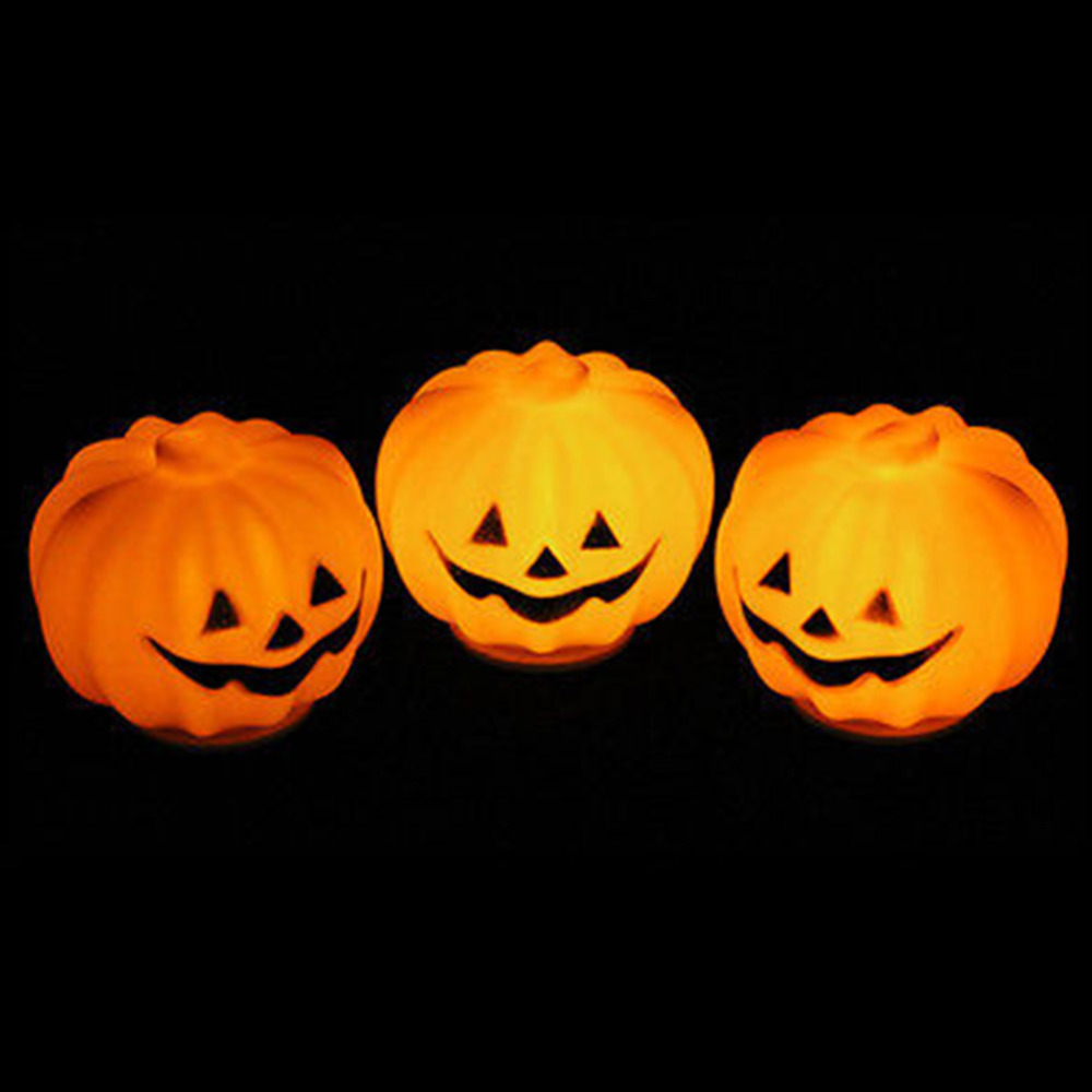 1 PC Carnival Party Lantern LED Pumpkin Night Light Halloween Decoration Props Produce Scary Atmosphere(China (Mainland))
