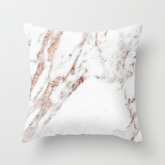 rose-gold-foil-marble-pillows