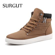 New 2014 PU Leather Men Boots Fashion Warm Cotton Brand ankle boots Shoes men drop shipping