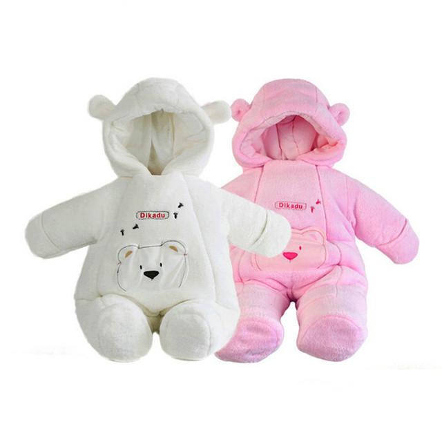 Новый высокое качество мода Стиль новорожденный зимние куртки детские пальто clothing коралловый флис зимние комбинезоны верхняя одежда бренда дети