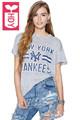 HDY Streetwear 2016 Womens Print New York Gray T Shirts Ladys Short Sleeves Tees Tops Female
