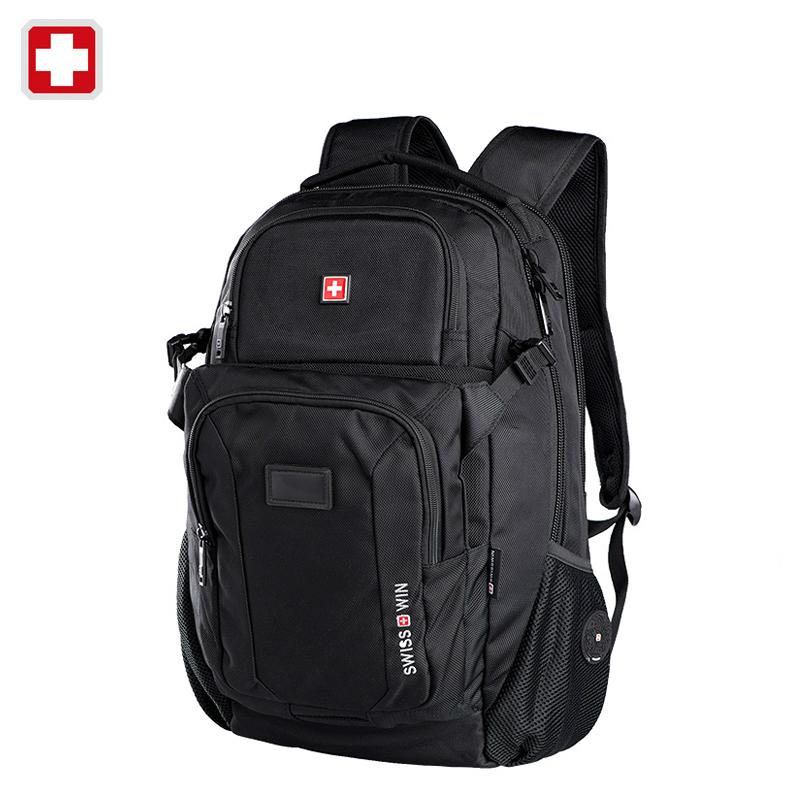 Swisswin swiss 2016 business laptop case 15.6 inch backpack men travel bags man casual bag for ipad sac courses mochila felt(China (Mainland))