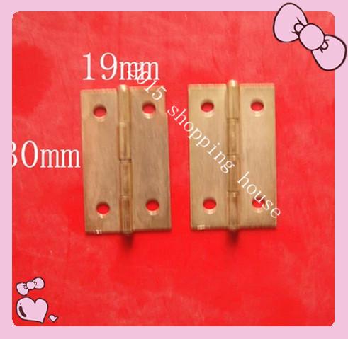 50pcs small wooden jewelry box folding hinges furniture hinge 30mm*19mm(China (Mainland))