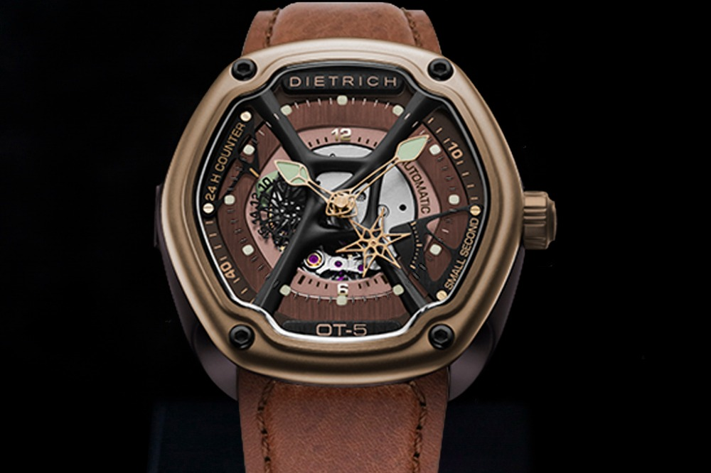 2015 Newest Dietrich 1969 Organic Time OT-5 Watch Automatic Mechanical Men Fashion Watch vintage Coppery Color Watches<br><br>Aliexpress