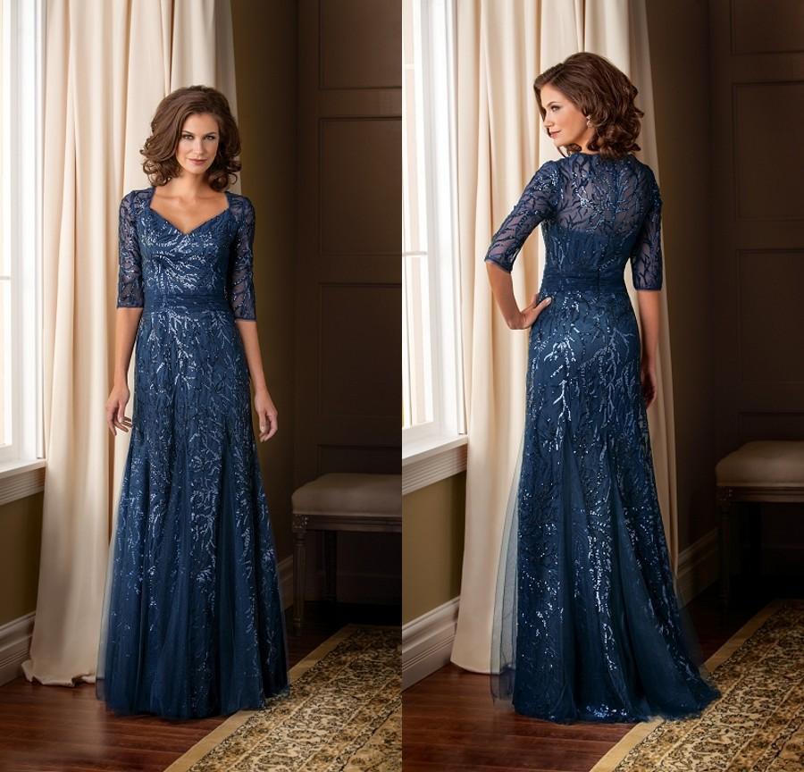 Elegant Mother Of The Bride Dresses: Elegant 2015 Sequins Half Sleeves Brides Mother Dress Plus